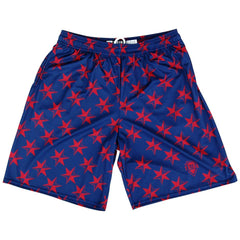 Chicago All Over Stars Lacrosse Shorts in Navy by Tribe Head Lacrosse