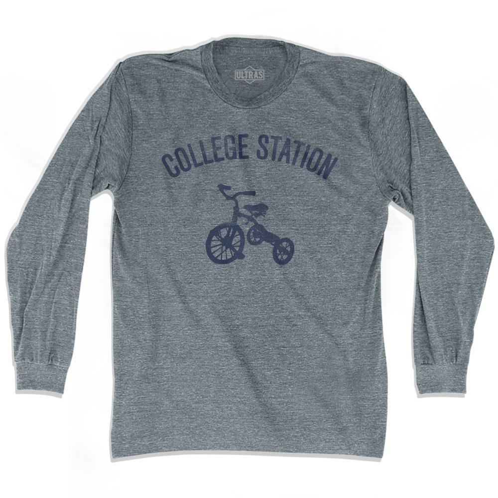 College Station City Tricycle Adult Tri-Blend Long Sleeve T-shirt by Ultras