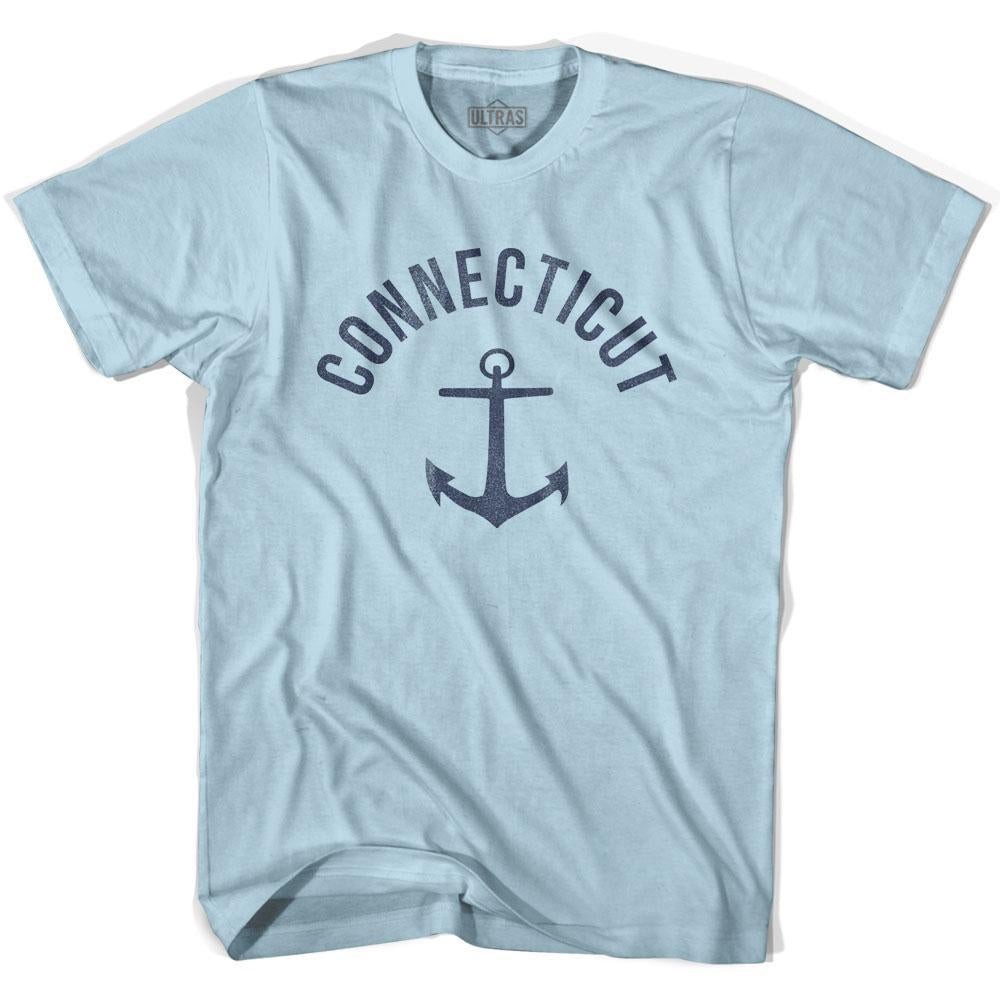 Connecticut State Anchor Home Cotton Adult T-shirt by Ultras