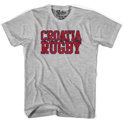 Croatia Rugby Nations T-shirt in Cool Grey by Ruckus Rugby