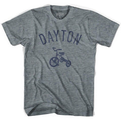 Dayton City Tricycle Adult Tri-Blend V-neck Womens T-shirt by Ultras