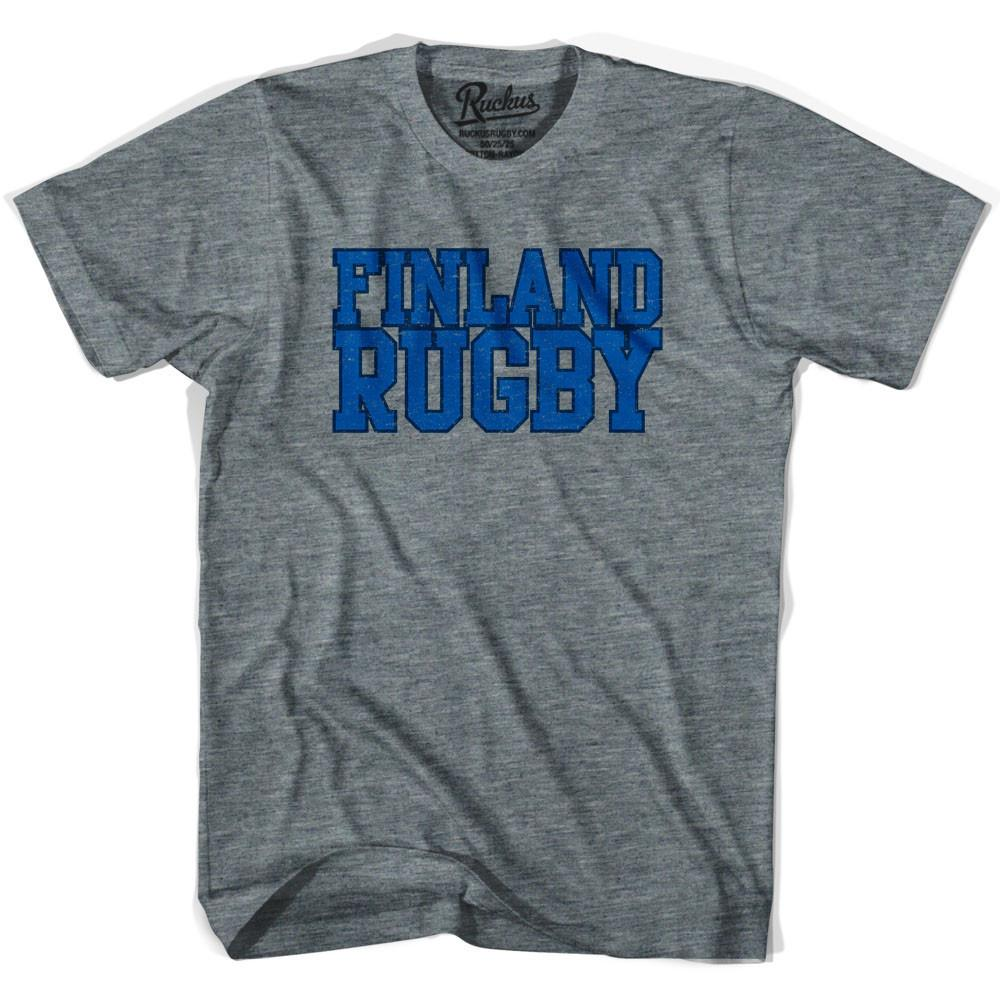 Finland Rugby Nations T-shirt in Athletic Grey by Ruckus Rugby