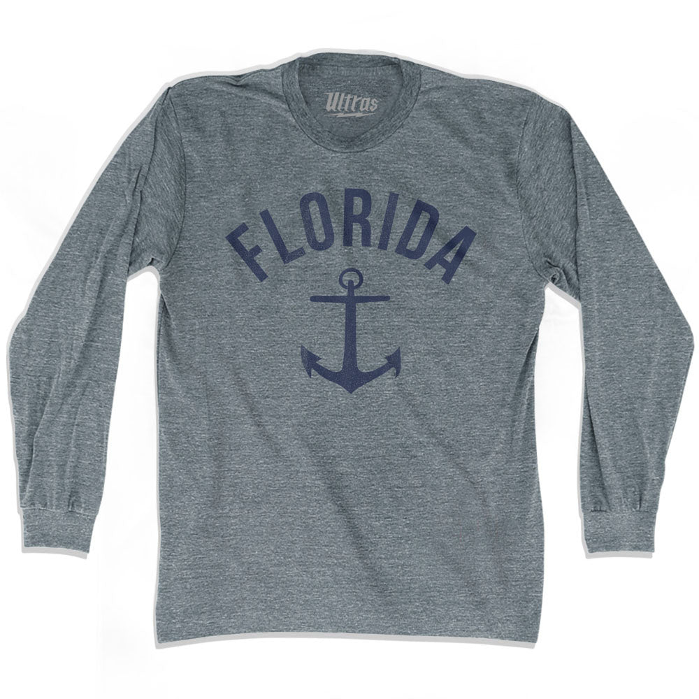 Florida State Anchor Home Tri-Blend Adult Long Sleeve T-shirt