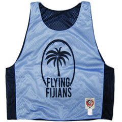 Fiji Training Reversible Rugby Pinnie in Light Blue & Black by Ruckus Rugby