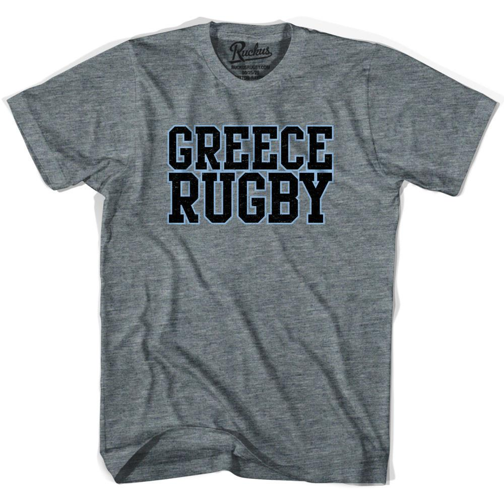 Greece Rugby Natons T-shirt in Athletic Grey by Ruckus Rugby