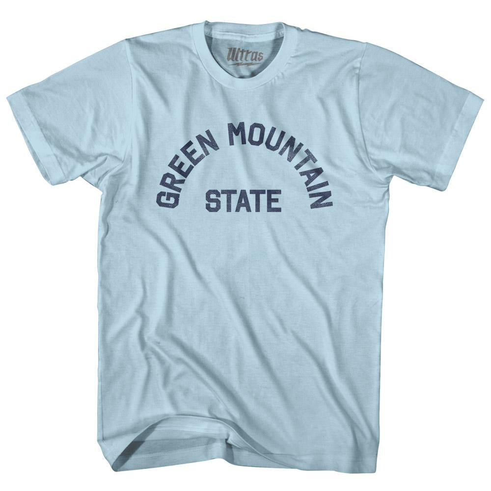 Vermont Green Mountain State Nickname Adult Cotton T-shirt by Ultras