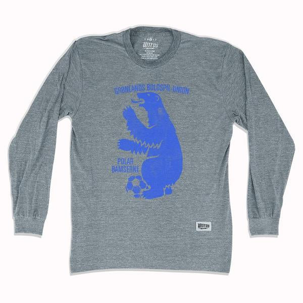 Greenland Polar Bear Soccer Long-Sleeve T-shirt in Athletic Grey by Ultras