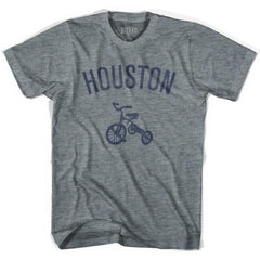 Houston City Tricycle Adult Tri-Blend V-neck Womens T-shirt by Ultras