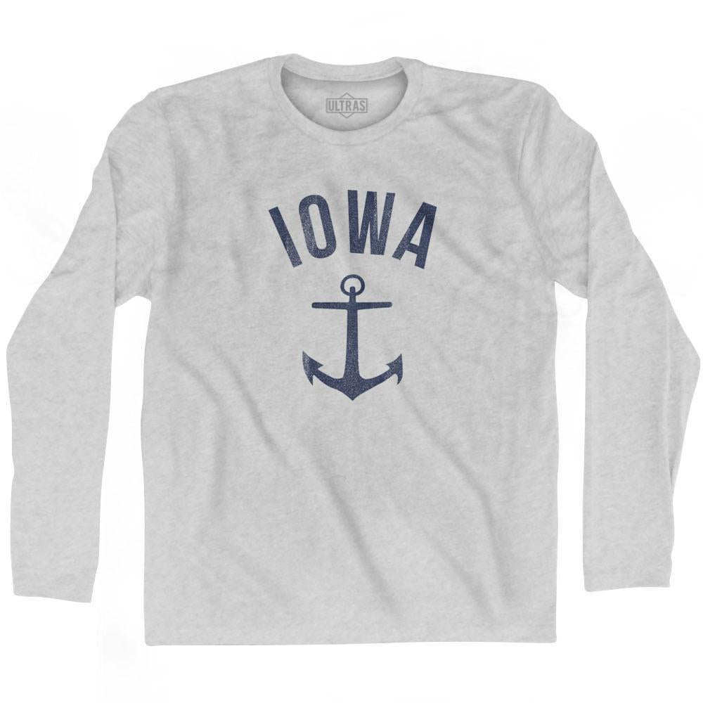 Iowa State Anchor Home Cotton Adult Long Sleeve T-shirt by Ultras