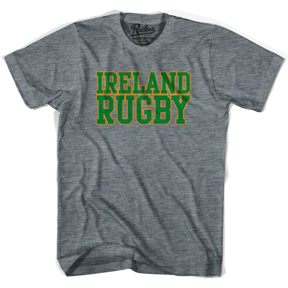 Ireland Rugby Nations T-shirt in Athletic Grey by Ruckus Rugby