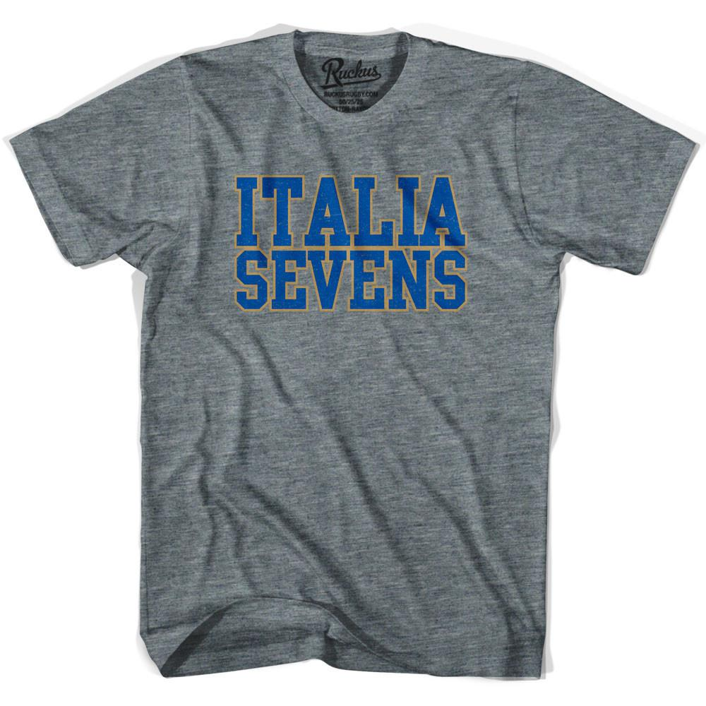 Italy Sevens Sevens Rugby T-shirt in Athletic Grey by Ruckus Rugby