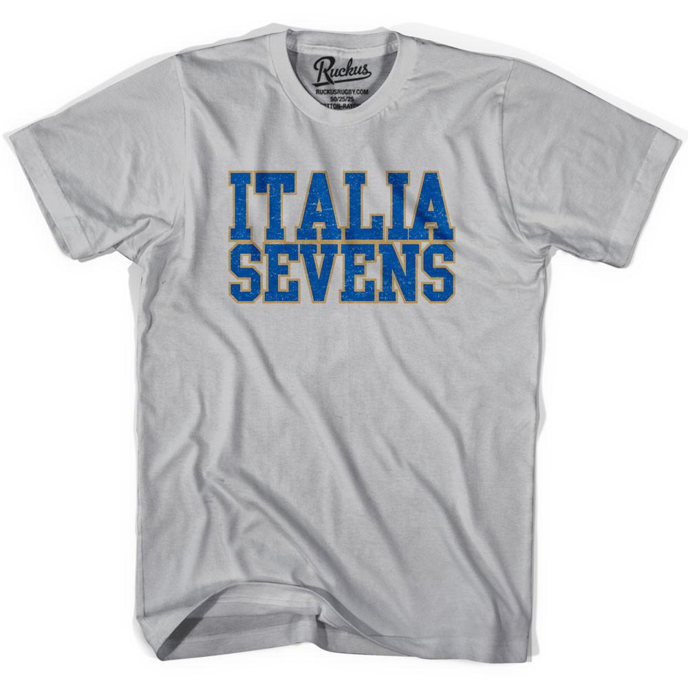 Italy Seven Rugby Natons T-shirt in Cool Grey by Ruckus Rugby