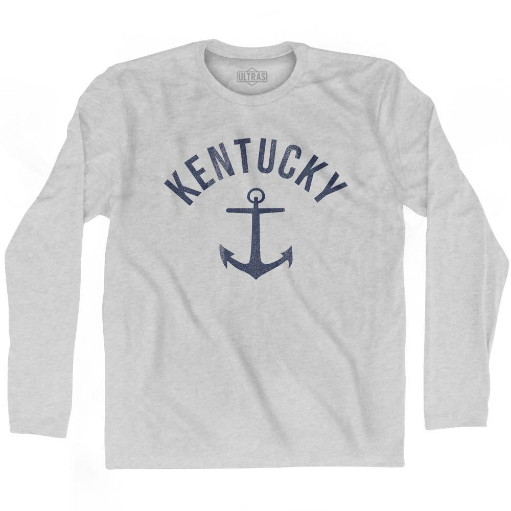 Kentucky State Anchor Home Cotton Adult Long Sleeve T-shirt by Ultras