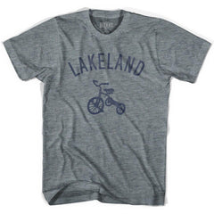 Lakeland City Tricycle Adult Tri-Blend V-neck Womens T-shirt by Ultras