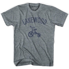 Lakewood City Tricycle Adult Tri-Blend V-neck Womens T-shirt by Ultras
