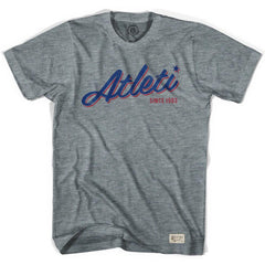 Atletico Madrid Atleti Soccer T-shirt in Athletic Grey by Ultras