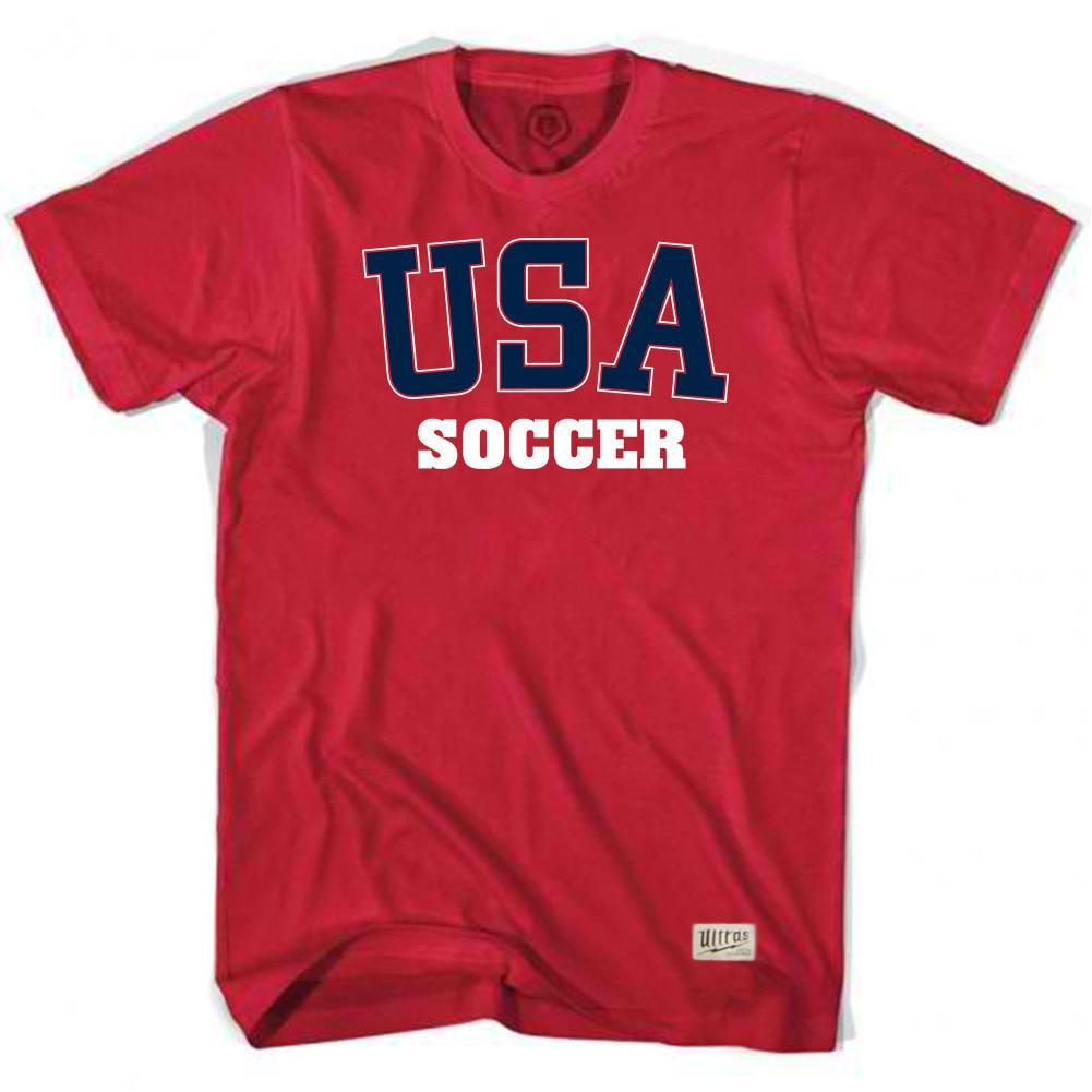 USA Soccer T-shirt in Red by Ultras