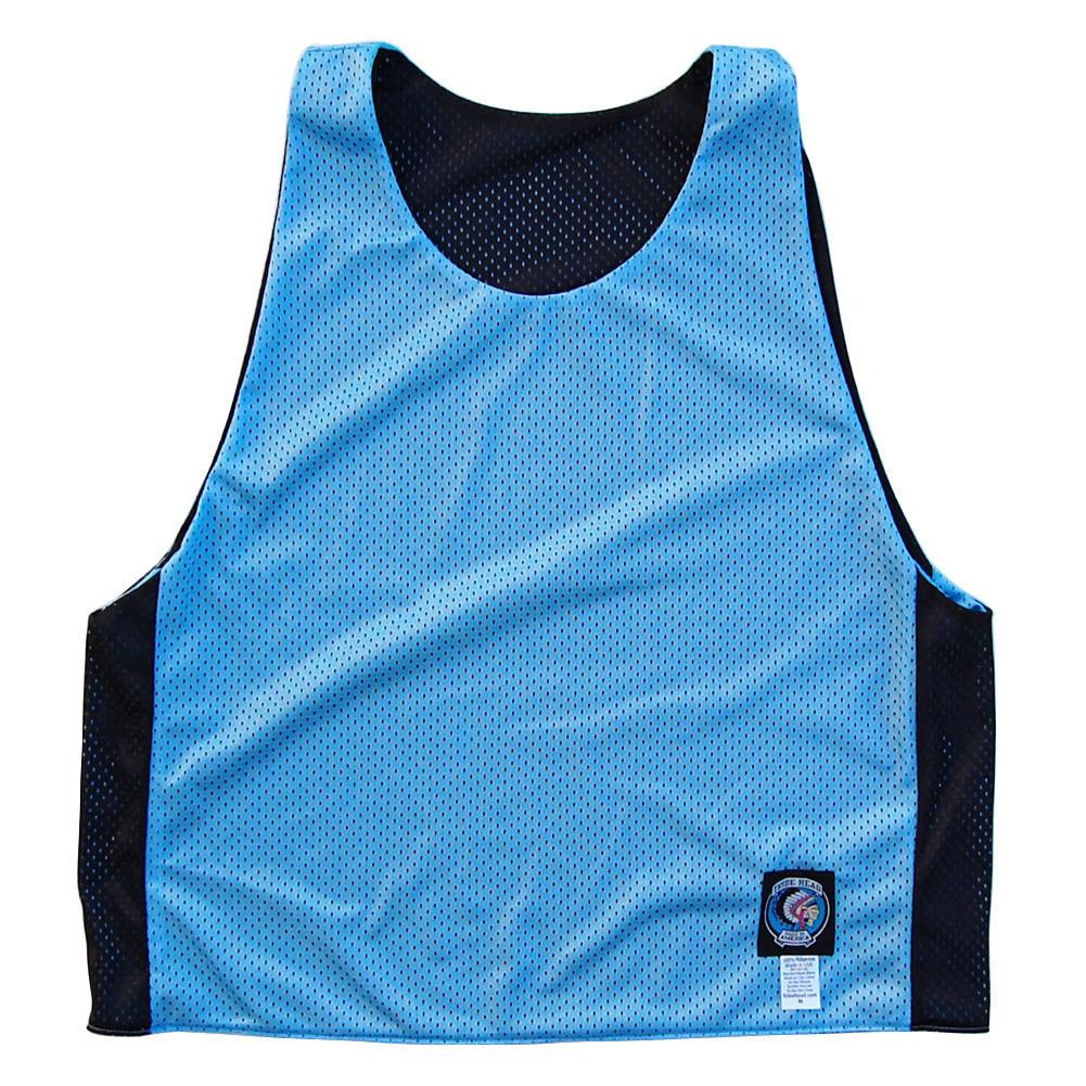 Baby Blue and Black Reversible Lacrosse Pinnie in Baby Blue & Black by Tribe Lacrosse