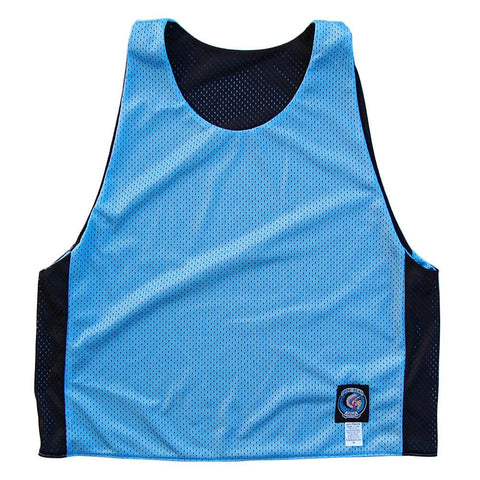 Baby Blue and Black Reversible Lacrosse Pinnie