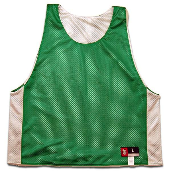 Kelly and White Reversible Lacrosse Pinnie in Kelly & White by Tribe Lacrosse