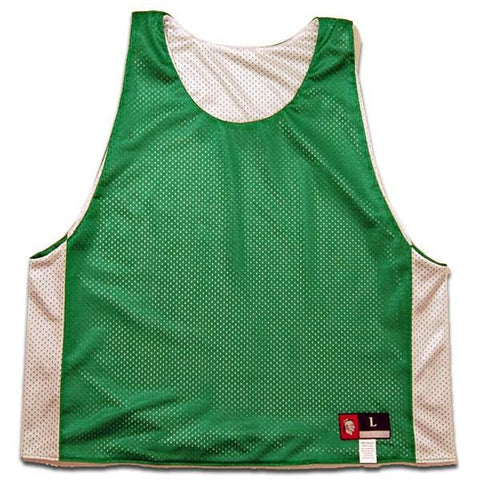 Kelly and White Reversible Lacrosse Pinnie