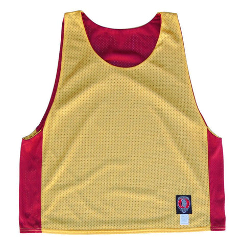 Cardinal and Yellow Reversible Lacrosse Pinnie