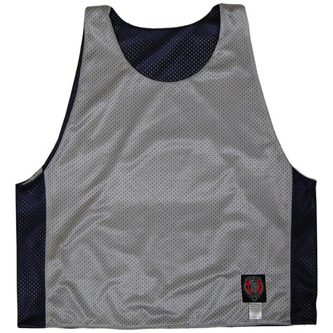 Navy and Silver Reversible Lacrosse Pinnie
