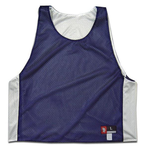 Navy and White Reversible Lacrosee Pinnie