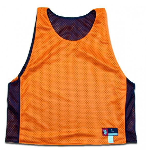 Neon Orange and Black Reversible Lacrosse Pinnie in Neon Orange & Black by Tribe Lacrosse