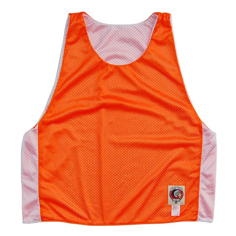 Neon Orange and White Reversible Lacrosse Pinnie
