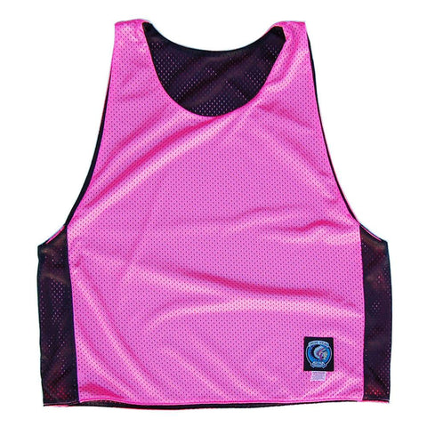 Neon Pink and Black Reversible Lacrosse Pinnie