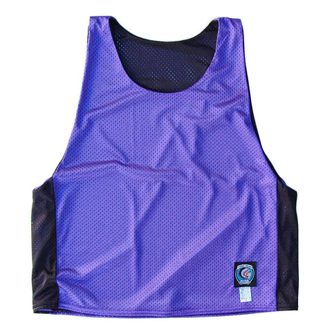 Purple and Black Reversible Lacrosse Pinnie