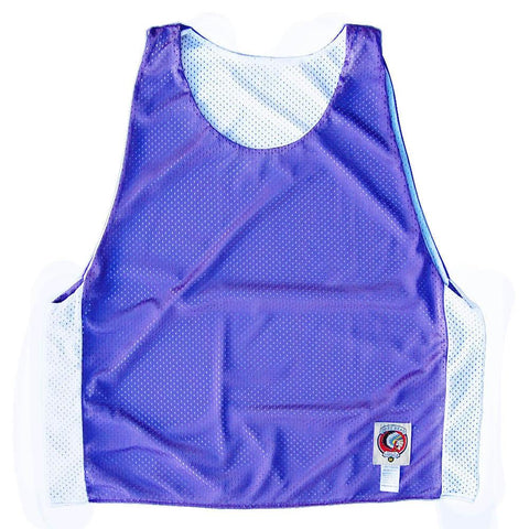 Purple and White Reversible Lacrosse Pinnie
