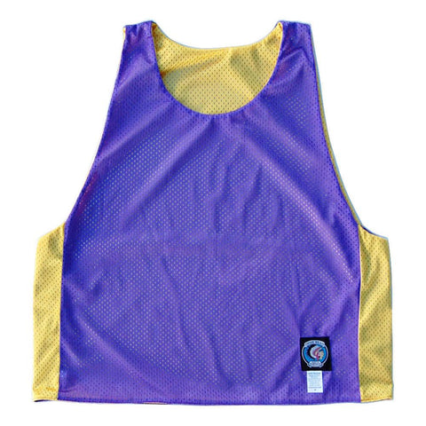 Purple and Yellow Reversible Lacrosse Pinnie