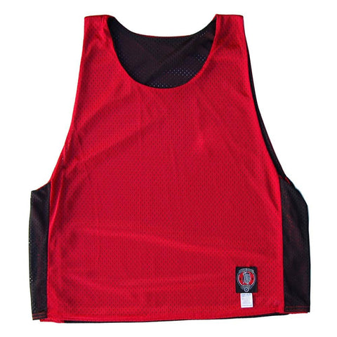 Red and Black Reversible Lacrosse Pinnie