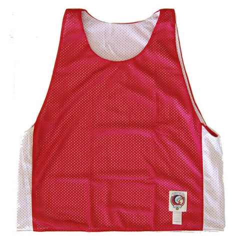 Red and White Reversible Lacrosse Pinnie
