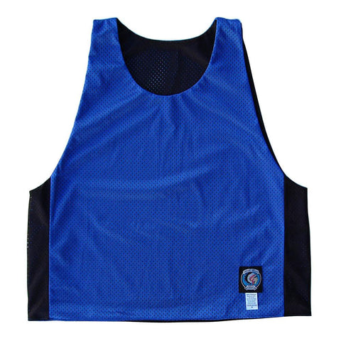 Royal and Black Reversible Lacrosse Pinnie