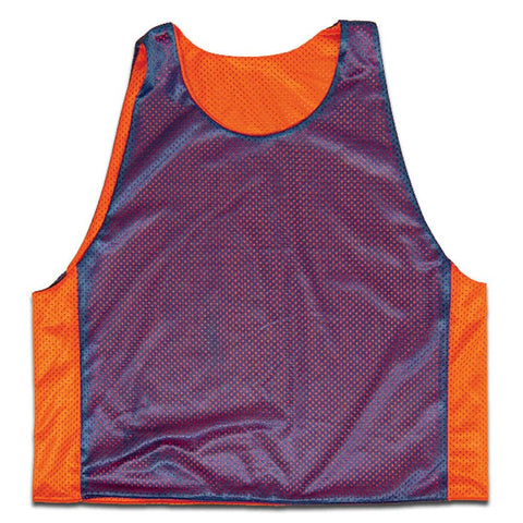 Royal and Orange Reverisble Lacrosse Pinnie