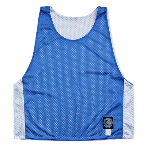 Royal and White Reversible Lacrosse Pinnie