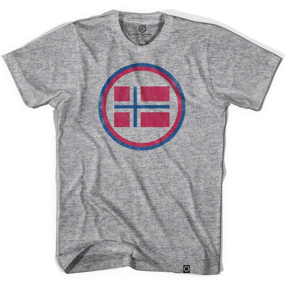 Norway Vintage Crest Soccer T-shirt in Athletic Grey by Ultras