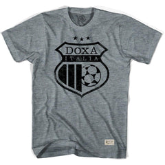 Doxa Italia Crest Collab Soccer T-shirt in Athletic Grey by Ultras