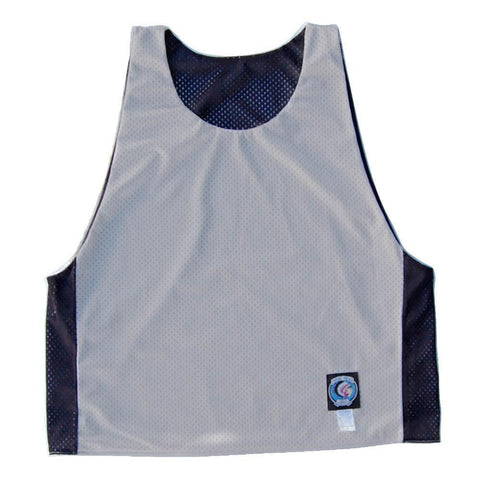 Silver and Black Reversible Lacrosse Pinnie