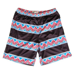 Tribal and Black Stripes Sublimated Lacrosse Shorts in Black by Tribe Lacrosse