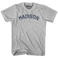 Madison City Vintage T-shirt in Grey Heather by Mile End Sportswear