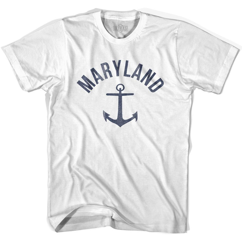 Maryland State Anchor Home Cotton Adult T-shirt by Ultras