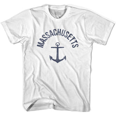 Massachusetts State Anchor Home Cotton Adult T-shirt by Ultras