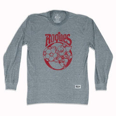 Memphis Rogues Soccer Long Sleeve T-shirt in Athletic Grey by Ultras