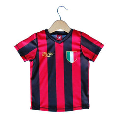Milan Scudetto 10 Toddler Soccer Sublimated Jersey in Red by Ultras