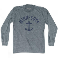 Minnesota State Anchor Home Tri-Blend Adult Long Sleeve T-shirt by Ultras