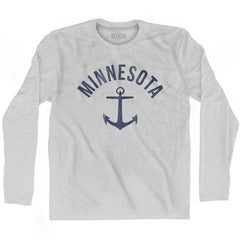 Minnesota State Anchor Home Cotton Adult Long Sleeve T-shirt by Ultras